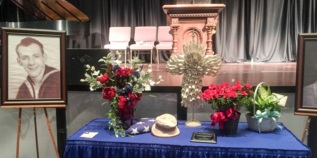 dad's funeral table