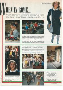 A flashback to my feature in Seventeen Magazine as a 16 year old countess in Rome