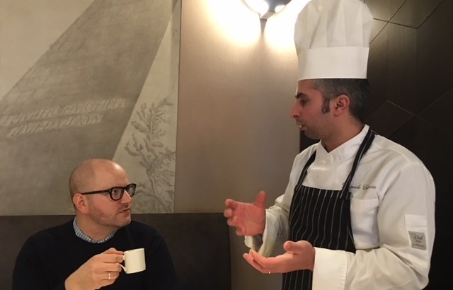 conversations at assaggia Jonathon and Daniele Ciaccio
