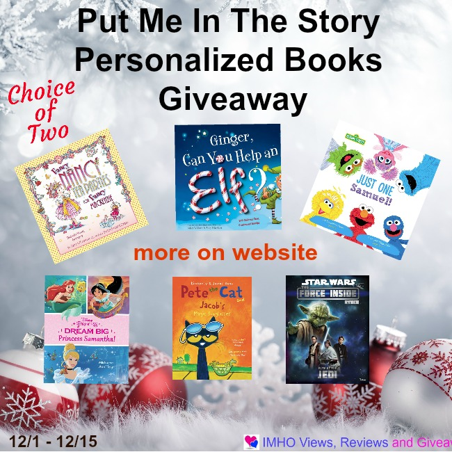 Put Me In The Story Personalized Books Giveaway Ends 12/15
