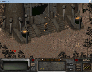 Fallout 2 running inside of a window.