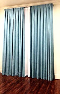 Custom Draperies With Inverted Pleats - Barrera's
