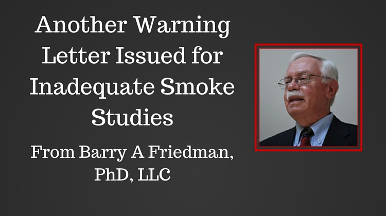 ANOTHER PHARMACEUTICAL RECEIVES A WARNING LETTER FOR INADEQUATE AIRFLOW STUDIES (12/17/15)