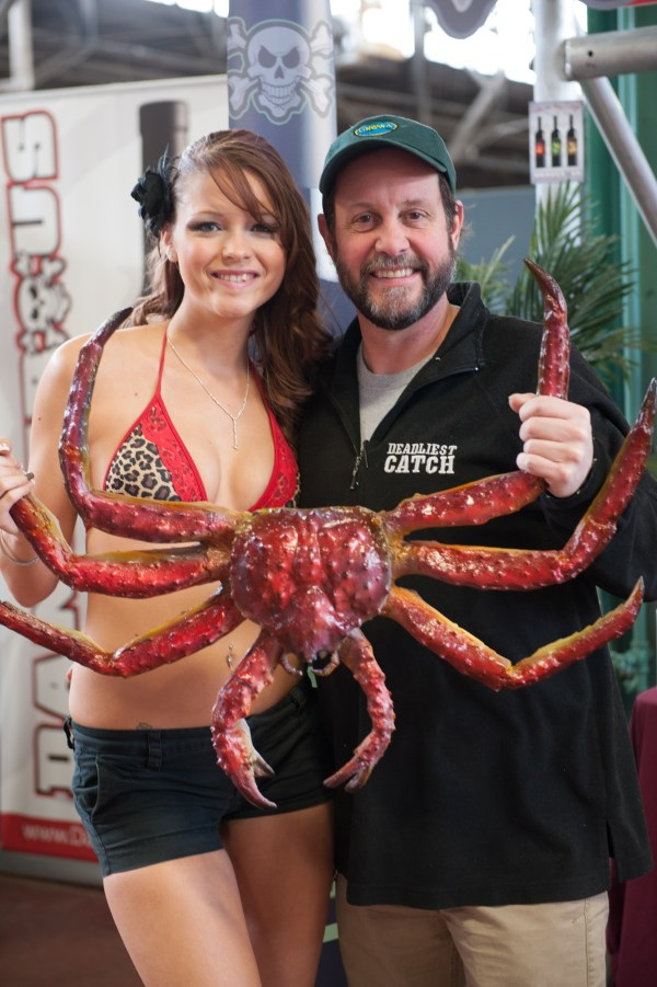 Ashly, always the life of the party, just had to have a shot with Russell Newberry from Deadliest Catch