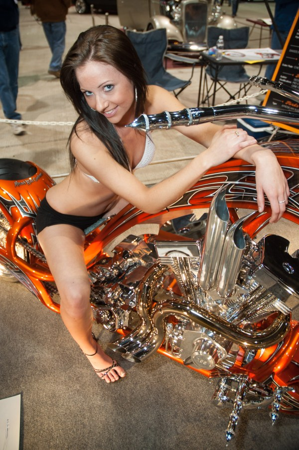 More than any thing, Ashley wanted to have a special moment with this bike on display at tunerwars Motorama 2010