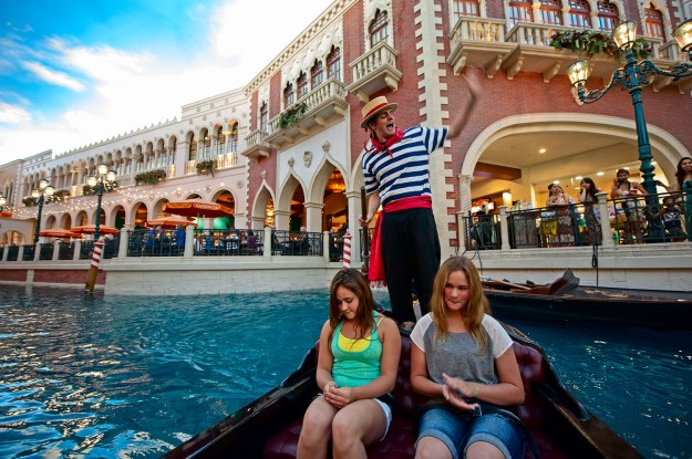 Gondola ride on The Grand Canal of The Venetian in Las Vegas Vacation