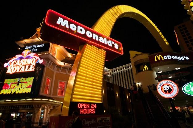 McDonald's on the main strip of Las Vegas Boulevard