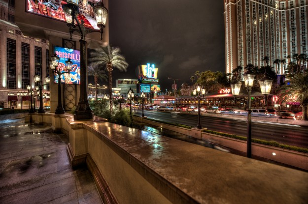 Rainy Night at The Palazzo on our Las Vegas vacation