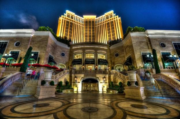 The Palazzo Las Vegas at night