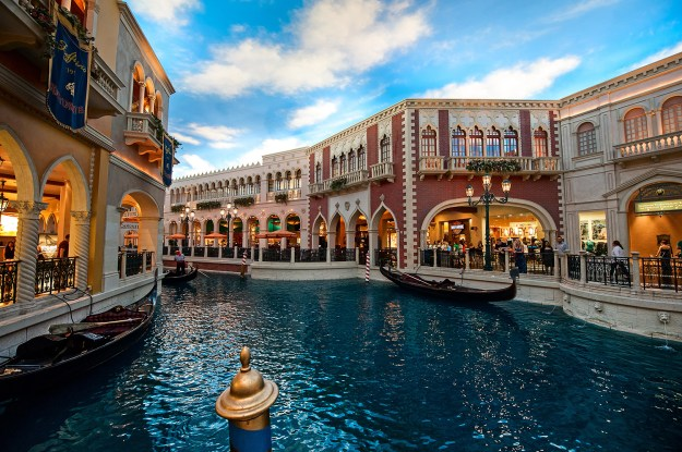 The Grand Canal at The Venetian in Las Vegas