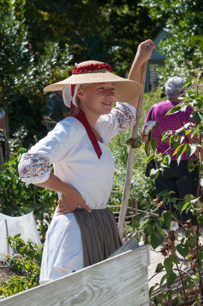 Gardener at the Colonial Gardens, Colonial Williamsburg