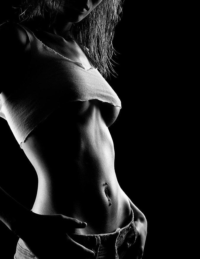 Krista: High contrast nude photography can be used for clothed bodyscapes as well