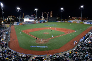 Brooklyn Cyclones home game. The Brooklyn Cyclone defeated Valleycats 7:0 during tonight's baseball game at the MCU Park is a minor league baseball stadium in the Coney Island section of Brooklyn, New York City, USA. The home team is the New York Mets-affiliated Brooklyn Cyclones of the New York - Penn League. The MCU Park stadium is located on Surf avenue & West 19th street in Coney Island.
