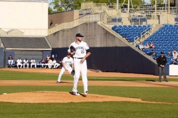 Hentges pitches during a recent game. (Lake County Captains)