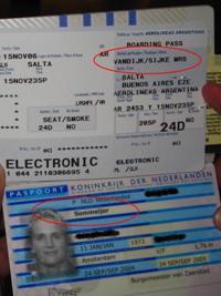 Bas d´r ticket op naam van mijn oma