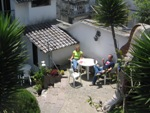 Our 2nd hostel, L´Auberge did have a garden, no secret