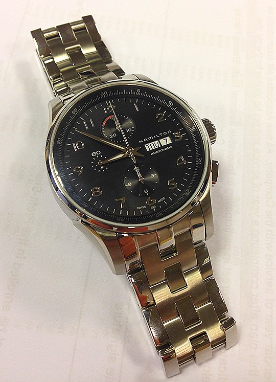 2013 11 07 11.34.001 Hamilton JazzMaster Maestro Auto Chrono Watch Review