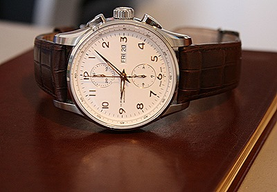 brown Hamilton JazzMaster Maestro Auto Chrono Watch Review