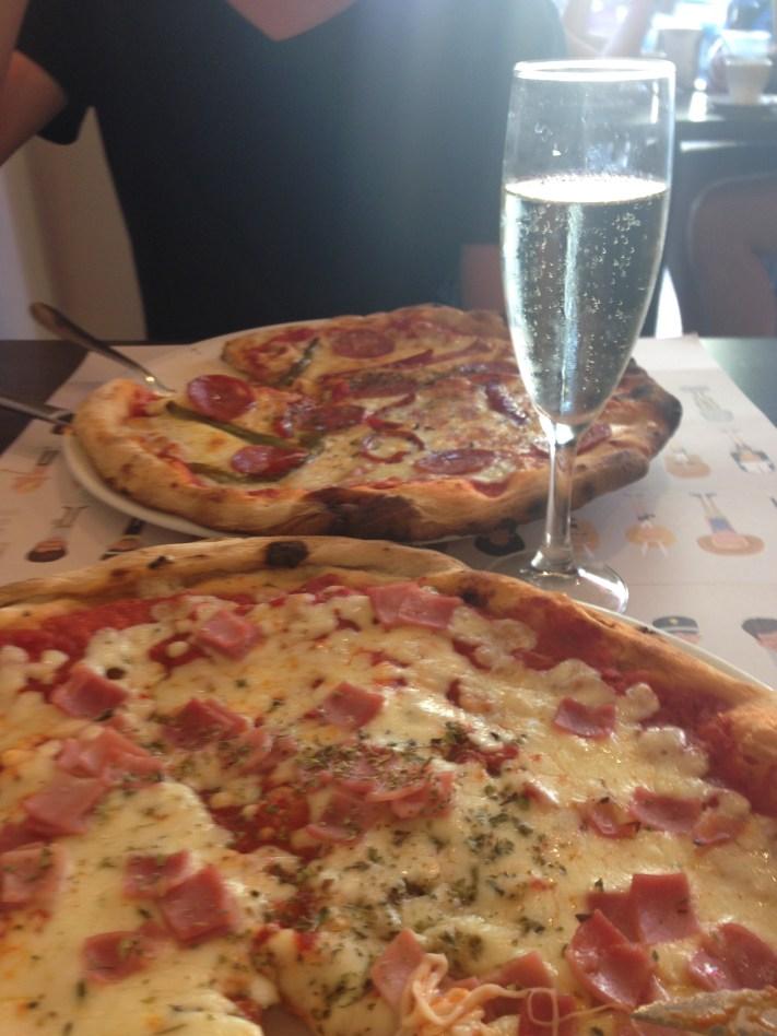 Pizza and Cava