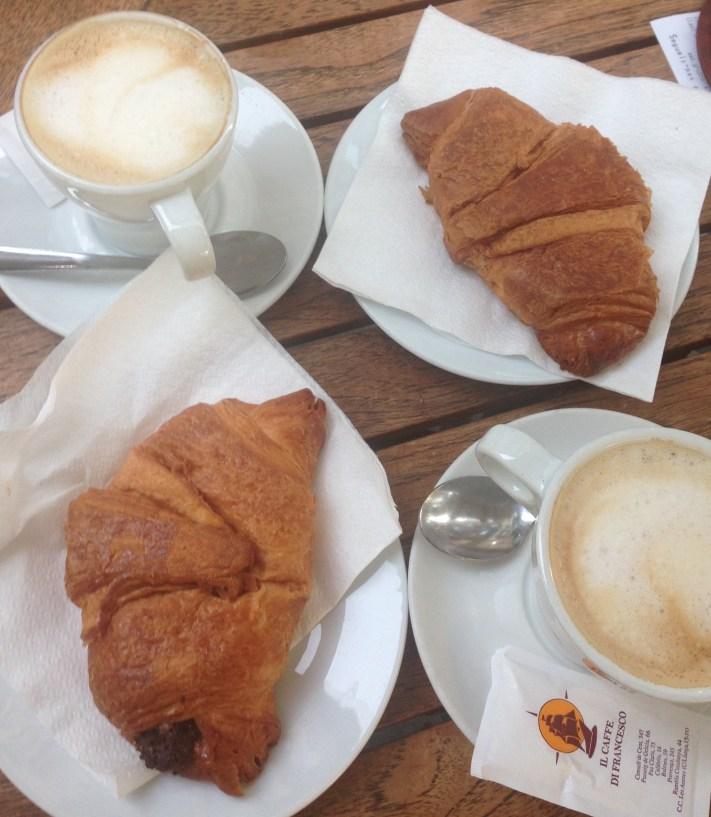 Espresso and Chocolate Croissants
