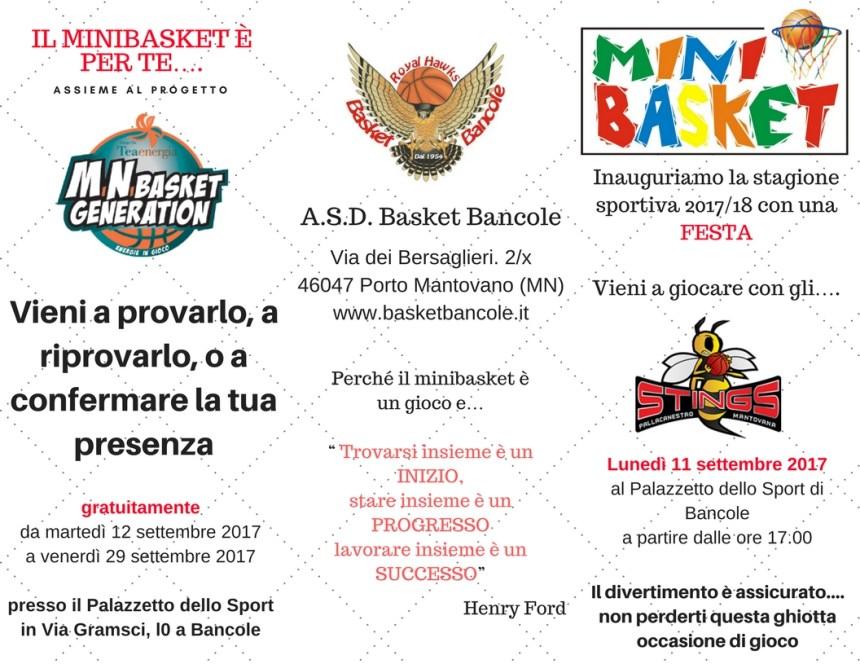 Corsi Minibasket 2017-18