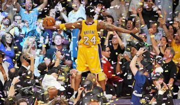 Festeggiamento di Kobe Bryant