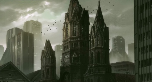 Beautiful gothic city porn in Stand Alone Complex