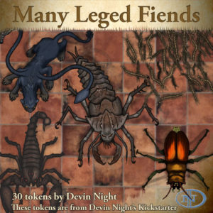 Devin Night's Token Pack #43: Many-Legged Fiends