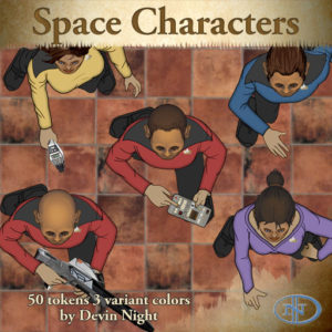 Devin Night's Token Pack #44: Space CHaracters