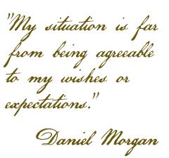 Daniel Morgan letter to Nathanael Greene