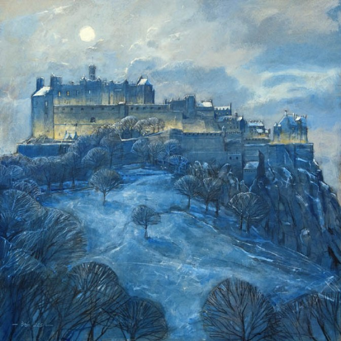Moonlight Over Edinburgh Castle by Bob Lees