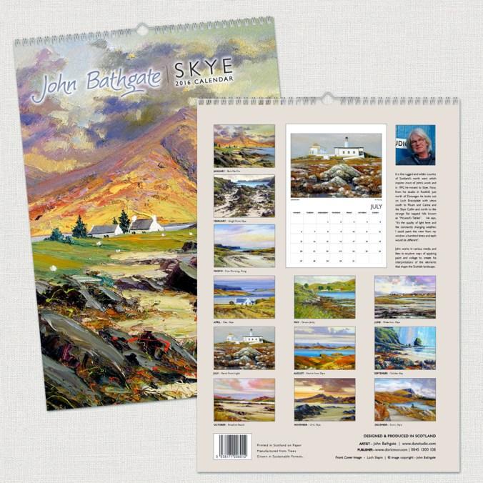 John Bathgate - Skye - 2016 A3 Calendar - F+B