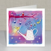 Cupcakes and Watering Can Greeting Card