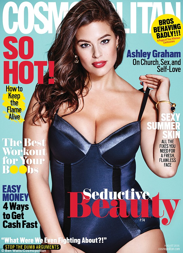 PHOTO: Model Ashley Graham appears on the cover of Cosmopolitan