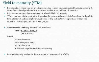 Yield to Maturity-YTM and Yield to Call-YTC