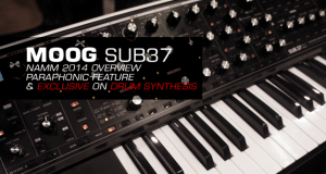 Moog SUB 37 Overview with EXCLUSIVE Drum Synthesis Demo at Winter NAMM 2014