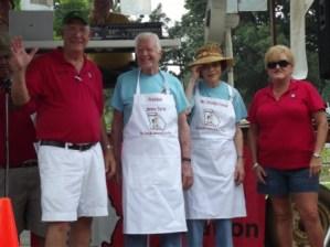 L-R: GBA President Harry Faircloth, President Jimmy Carter, Mrs. Rosalyn Carter, GBA Secretary Pam Nelms