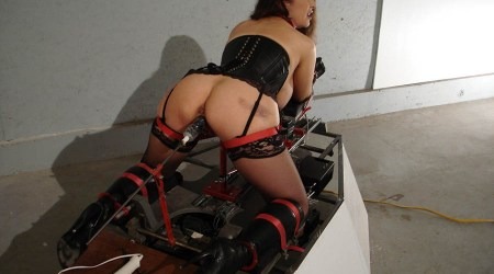 Jewell Marceau Restrained, Penetrated and Spread in Corset and Stockings