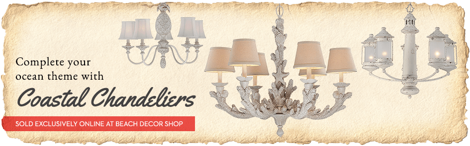 coastal beach chandeliers themed furniture stores