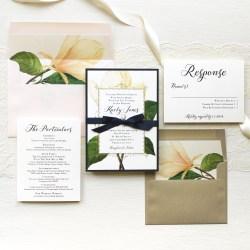 Elegant Magnolia Wedding Invitations Magnolia Customizable Wedding Invitations Beacon Lane Wedding Invitations 2018 Wedding Invitations Addressing Etiquette