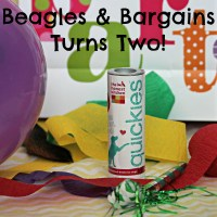 Beagles & Bargains Turns Two with Help from Quickies! + GIVEAWAY