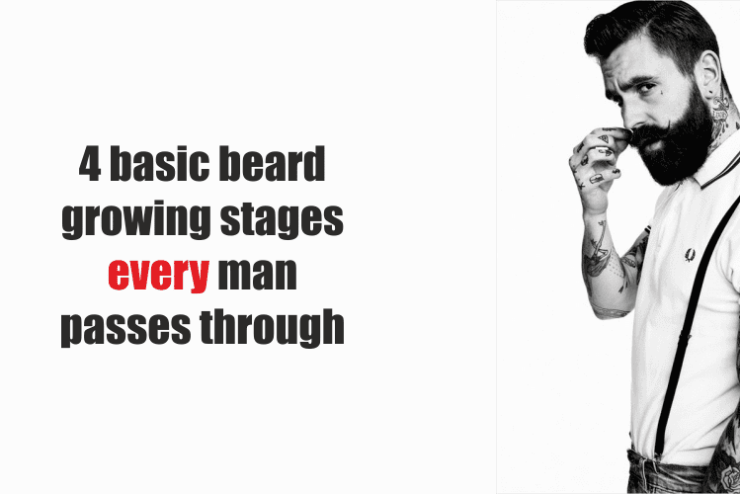 4 basic beard growing stages