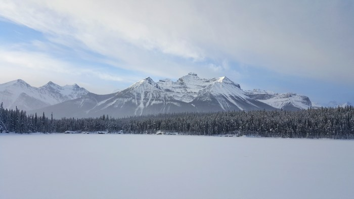 Bow Lake Frozen Over