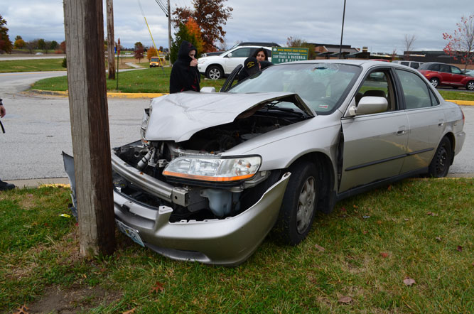 Runaway driver brought into custody after car accident