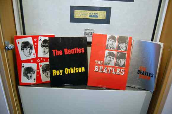 Inside the Beatlemania museum, Hamburg, Germany