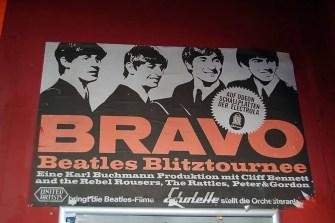 Poster outside the Indra Club, Hamburg, 2011