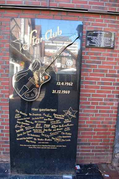 Star-Club memorial sign, Hamburg, 2011