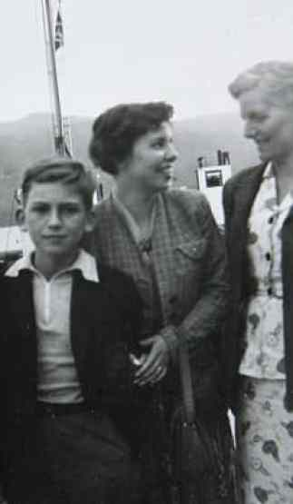 George Harrison, his sister Louise and their mother Louise