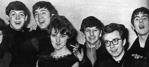 The Beatles with fans at Floral Hall Ballroom, Morecambe, 18 January 1963