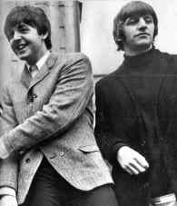 Paul McCartney and Ringo Starr, 1965